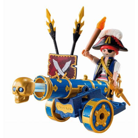 CAÑON INTERAC. AZUL PIRATA PLAYMOBIL