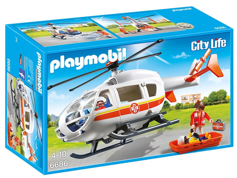 Helicóptero médico de emergencia DE PLAYMOBIL