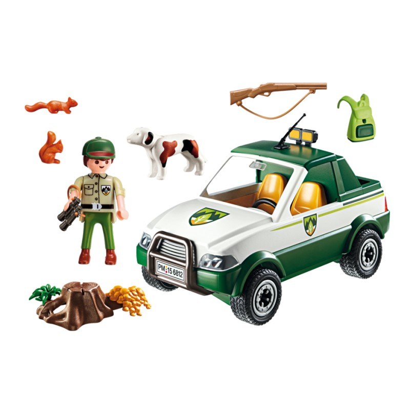 GUARDABOSQUE CON PICK UP PLAYMOBIL