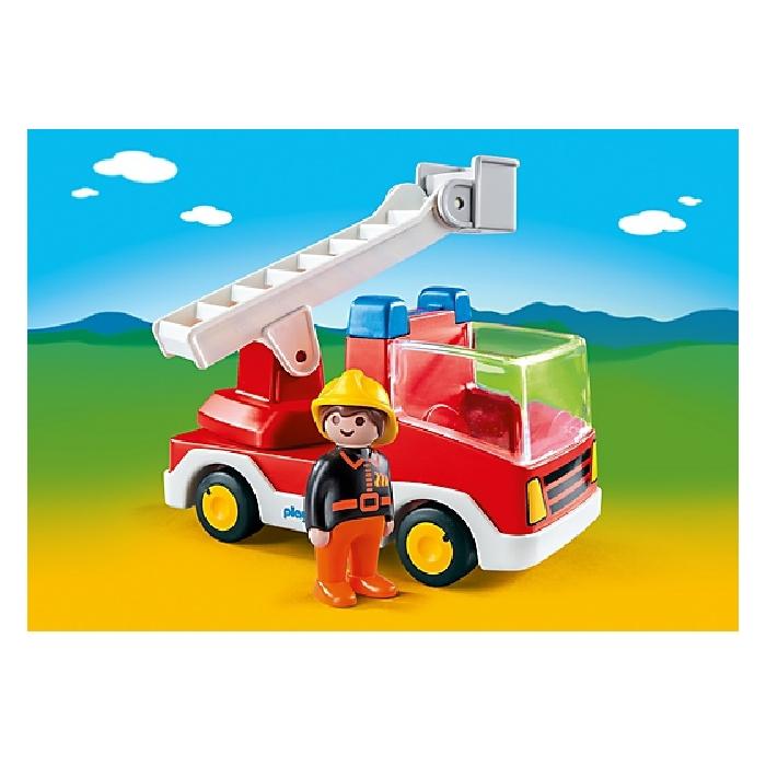 Playmobil - 1.2.3 Camión de Bomberos