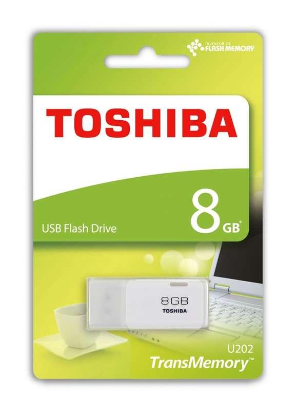 PENDRIVE 8GB USB2.0 TOSHIBA HAYABUSA BLANCO