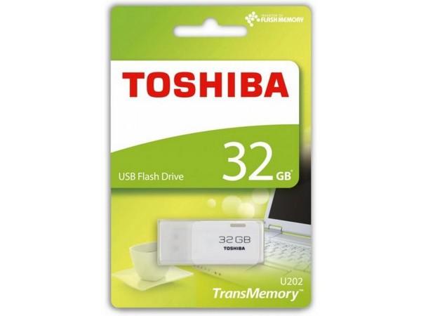 PENDRIVE 32GB USB2.0 TOSHIBA HAYABUSA BLANCO