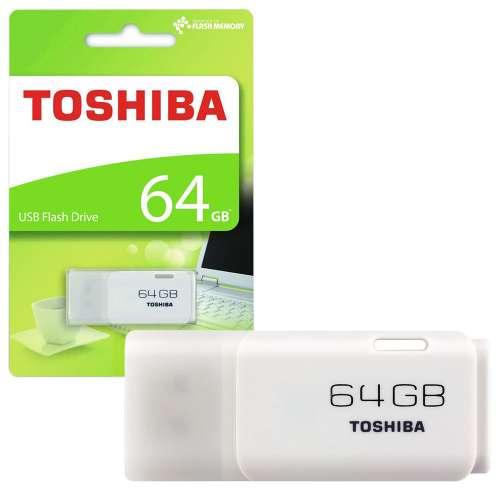 PENDRIVE 64GB USB2.0 TOSHIBA HAYABUSA BLANCO