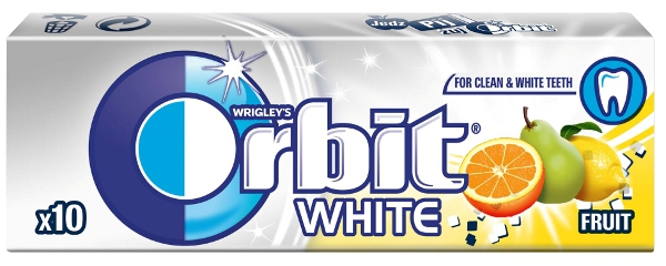 CHICLE ORBIT WHITE FRUIT