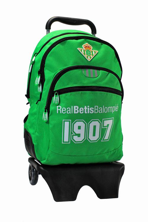 Mochila grande con carro del Real Betis (multibolsillos)
