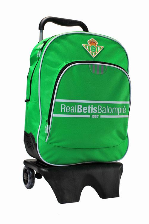 Mochila grande con carro del Real Betis (2 bolsillos)