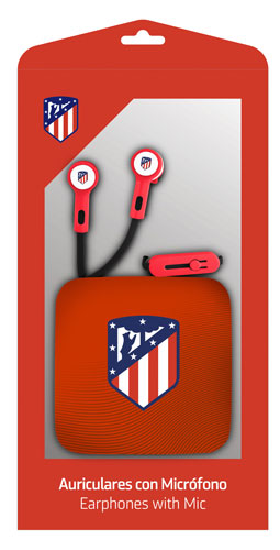 AURICULAR BOTON CON MICRO ATLETICO DE MADRID