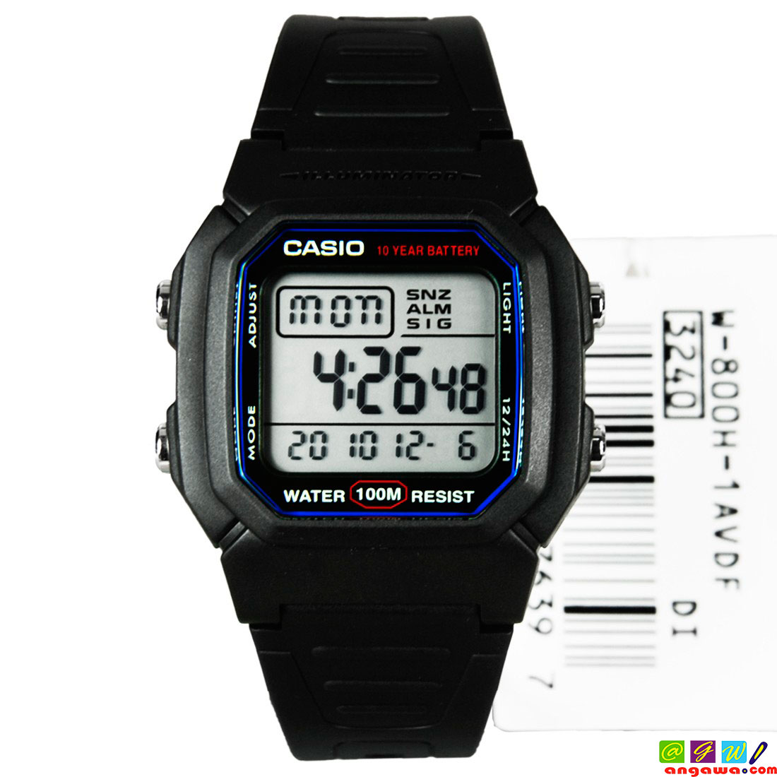 RELOJ CASIO MODELO W-800H-1A
