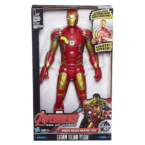 Los Vengadores - Iron Man Figura Titan Electrónica