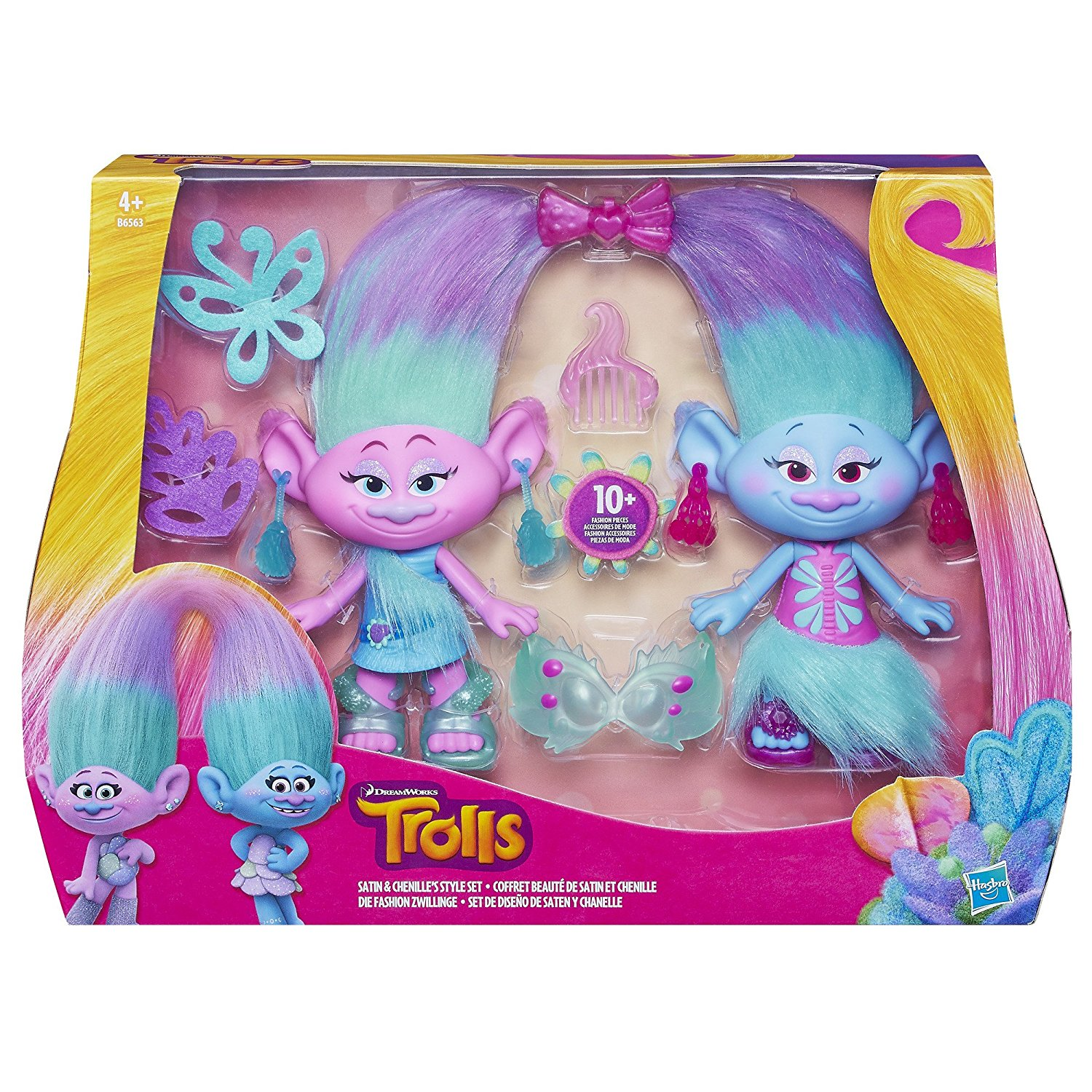Trolls - Set de diseño Saten y Chanelle