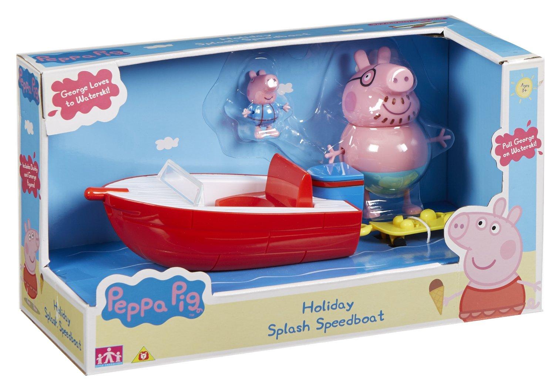 Peppa Pig - Vehículo de aventuras familia, color rojo