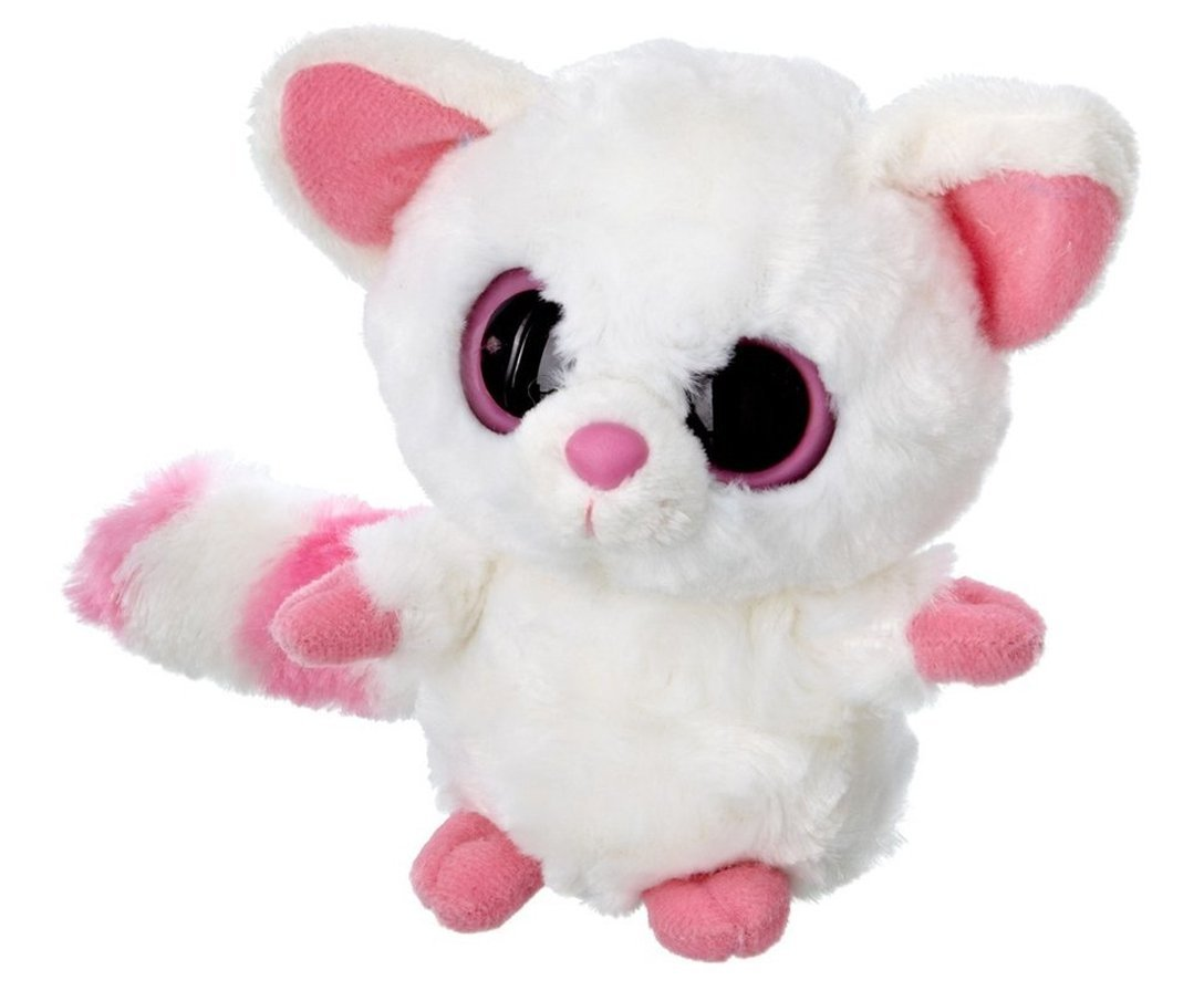YooHoo & Friends - Peluche Fennec, 18 cm, color blanco y rosa (Aurora World 12020)