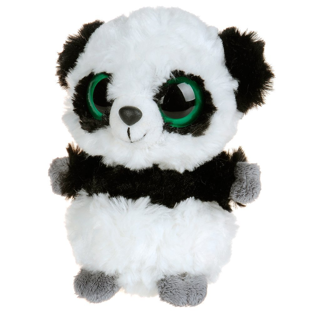 YooHoo & Friends - Peluche Panda, 18 cm, color blanco y negro (Aurora World 12239)
