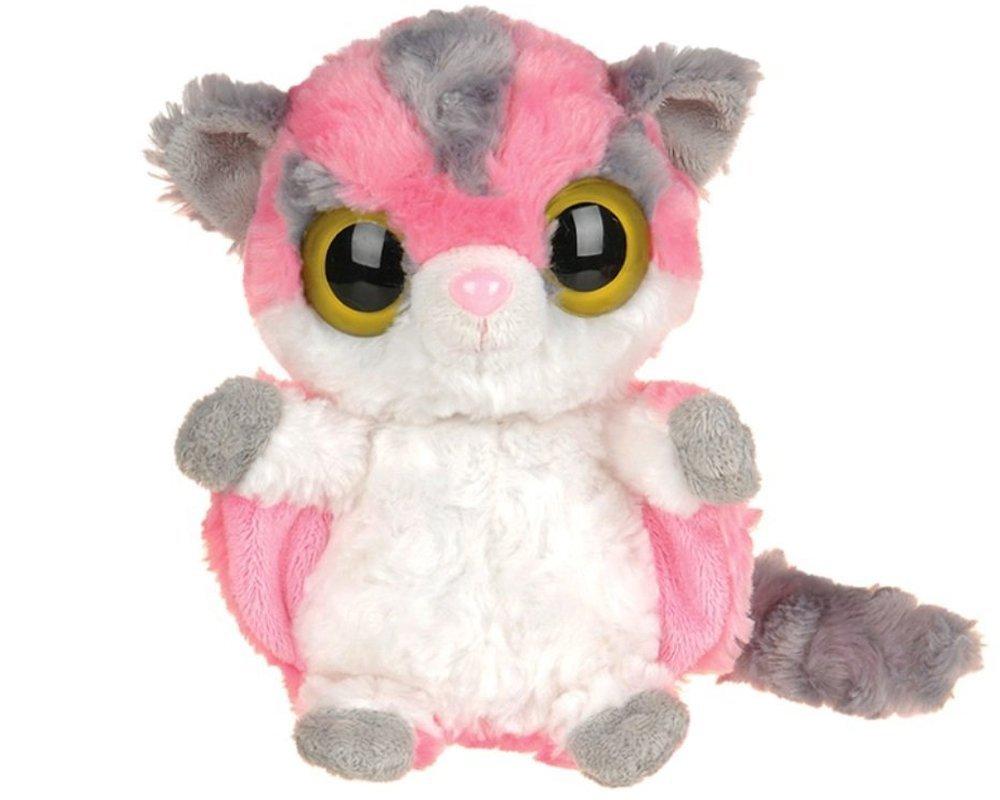 YooHoo & Friends - Peluche Sugar Glider, 13 cm, color rosa y blanco (Aurora World 12247)