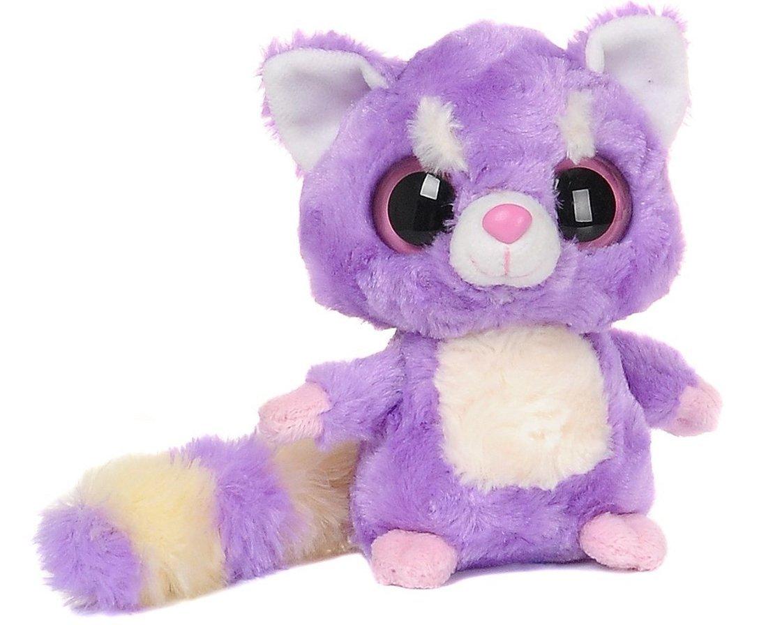 YooHoo & Friends - Peluche Lesser Panda, 13 cm, color malva y blanco (Aurora World 12465)
