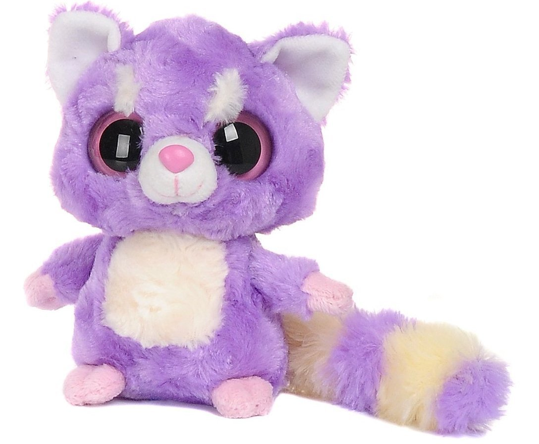 YooHoo & Friends - Peluche Lesser Panda, 18 cm, color malva y blanco (Aurora World 12466)
