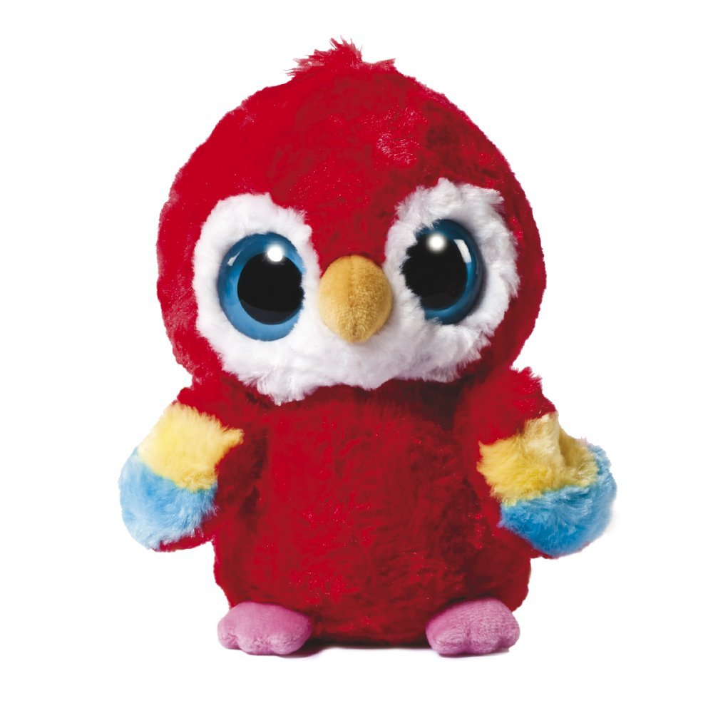 YooHoo & Friends - Peluche Scarlet Macaw, 18 cm, color rojo (Aurora World 12984)
