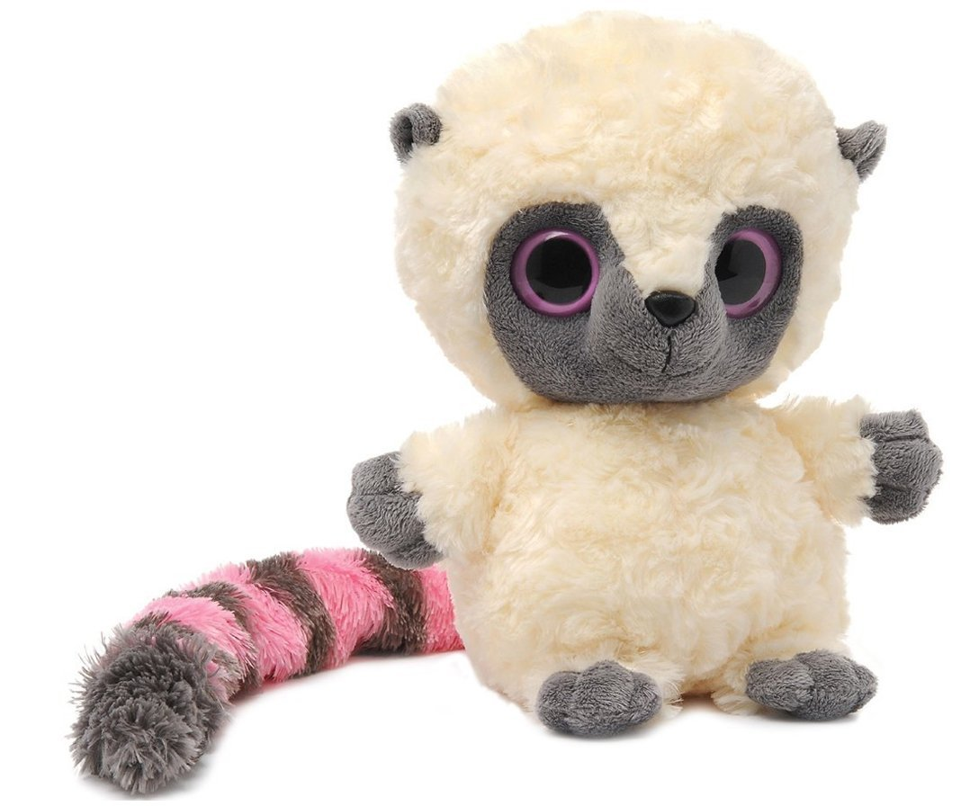 YooHoo & Friends - Peluche de 18 cm, color blanco y rosa (Aurora World 13004)