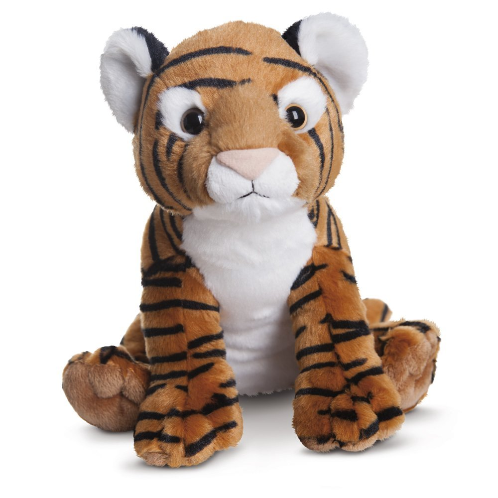 Destination Nation - Tigre de peluche, 24 cm, color blanco y marrón (Aurora World 50431)