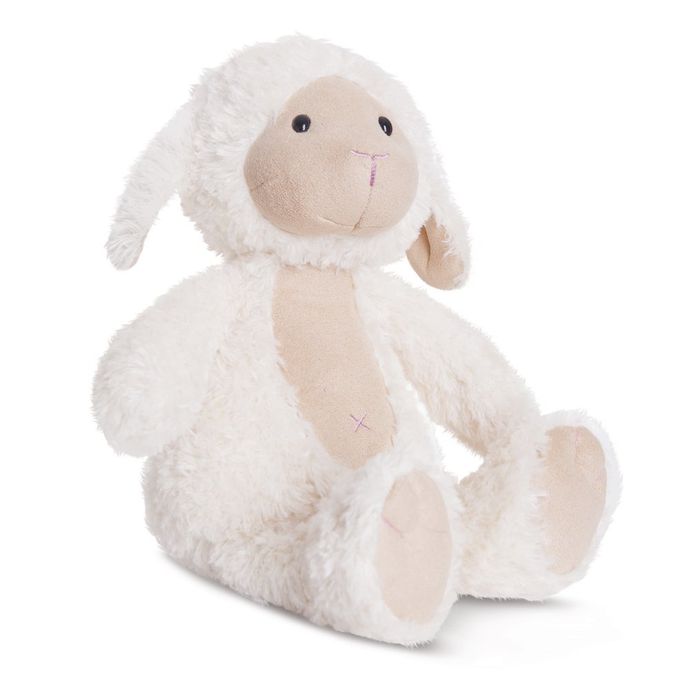 Nature's Friends - Oveja de peluche, 30 cm, color blanco (Aurora World 60454)