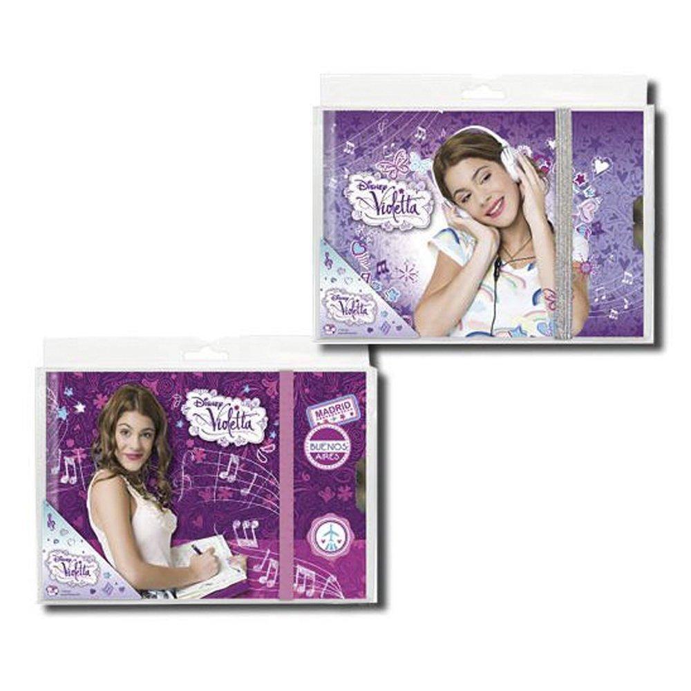 Violetta - Diario con goma, 19 x 14 cm