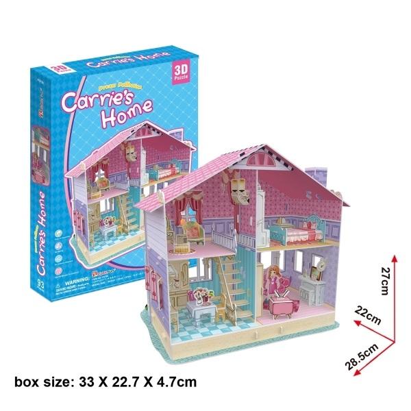 Puzzle 3D Casa de Muñecas Carries Home 93 piezas¬