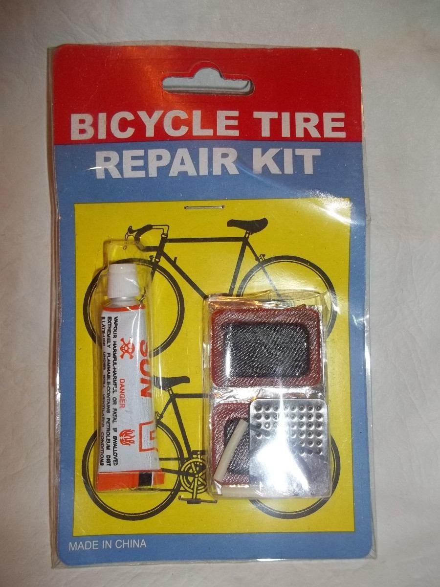 Kit Para Reparar Bicicletas Pegamento + 4 Parches