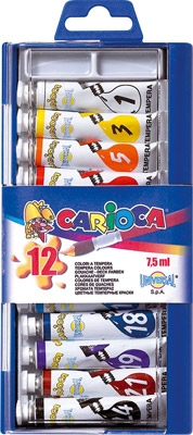 SET 12 TEMPERAS TUBO 7.5ml.