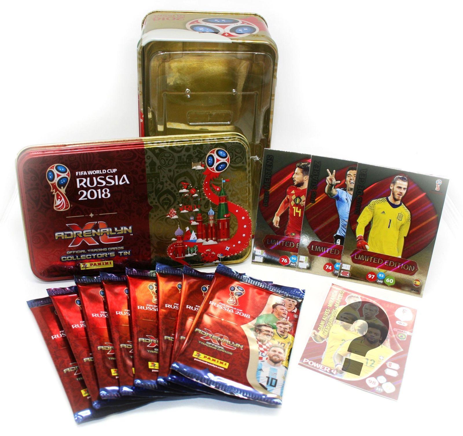 Copa del Mundo de Fifa Rusia 2018, Adrenalyn XL, lata de coleccionista