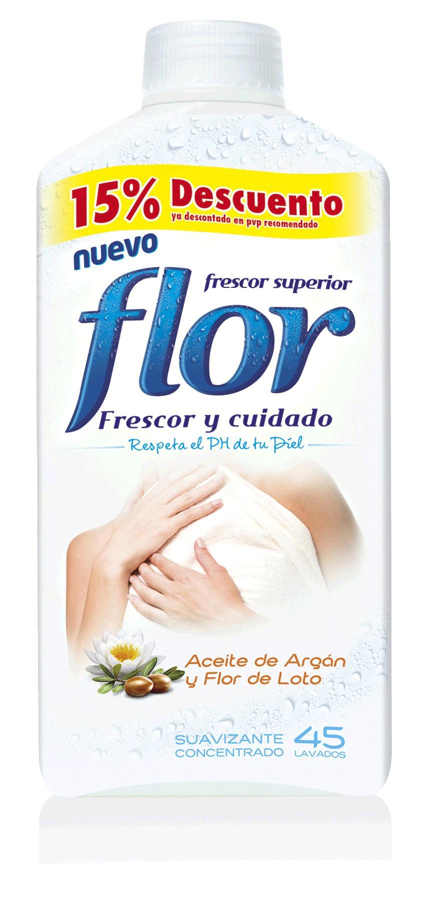 SUAVIZANTE FLOR ACEITE DE ARGAN Y  FLOR DE LOTO 1035ml