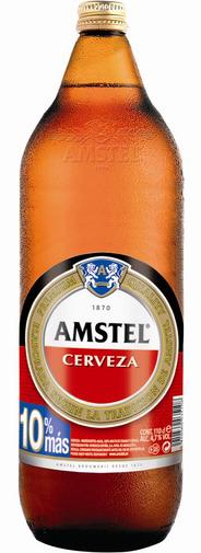 CERVEZA AMSTEL 1 L.