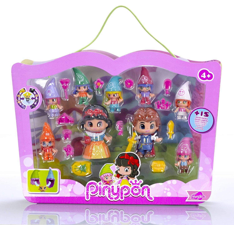 Pinypon - Pack de figuras Blancanieves y siete enanitos