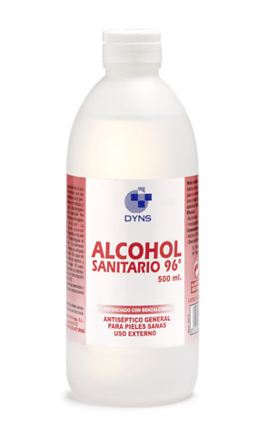 ALCOHOL SANITARIO 96º 500 ml.