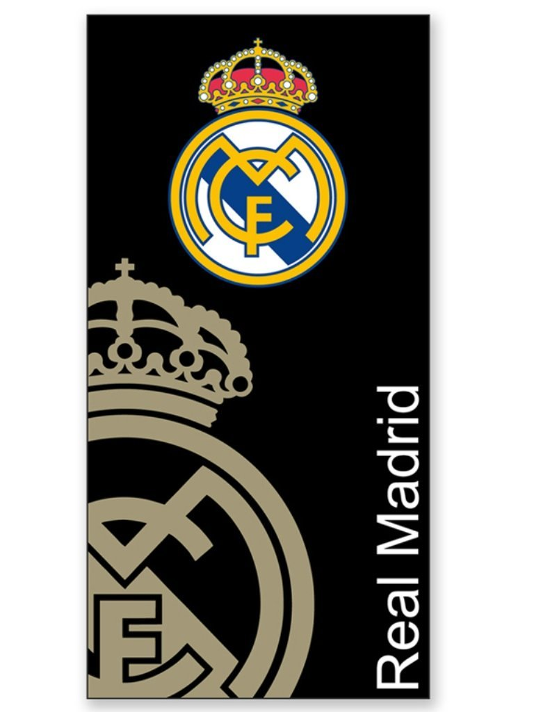 Toalla Playa Real Madrid Escudo Negro