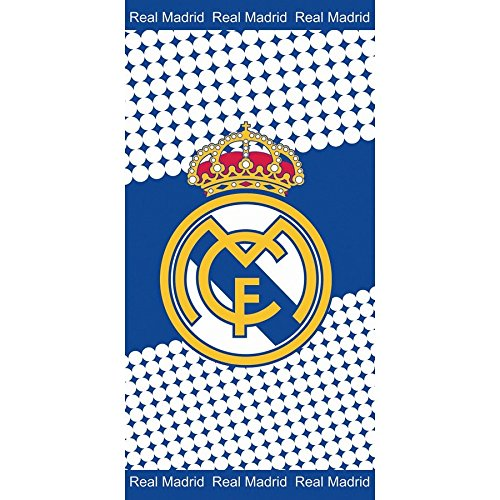 REAL MADRID - Toalla, 76 x 152 cm, terciopelo