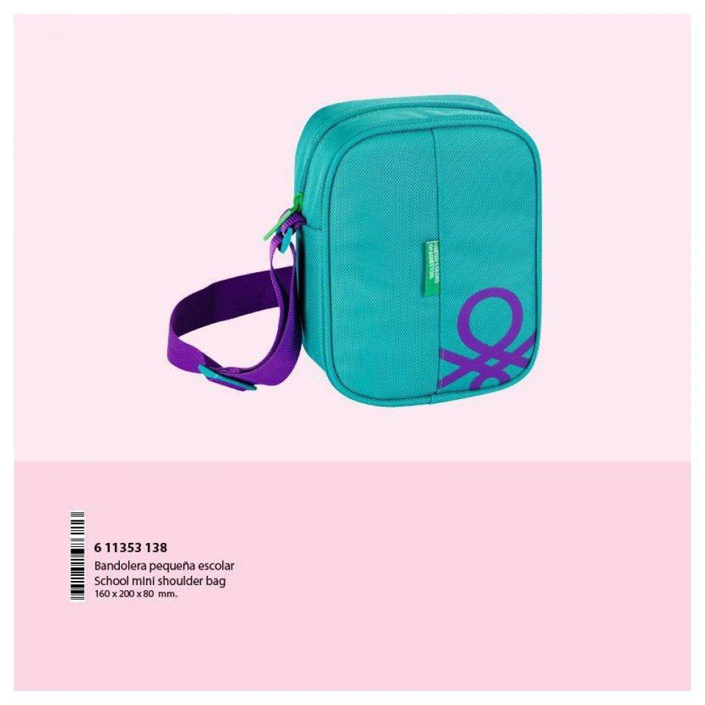 Benetton Turquoise - Bandolera Pequeña 16 cm