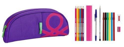 Benetton Purple – Portatodo Ovalado Lleno 17 piezas