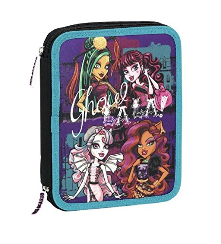 Monster High - Plumier doble, 56 piezas, 20 x 24 cm