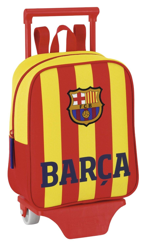 Barça-Senyera - Mochila guardería con ruedas, 22 x 28 cm