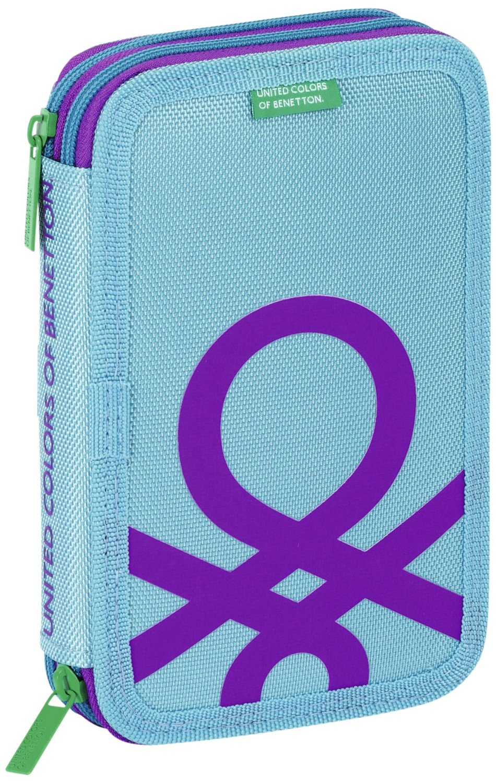 Benetton - Plumier doble pequeño, color azul