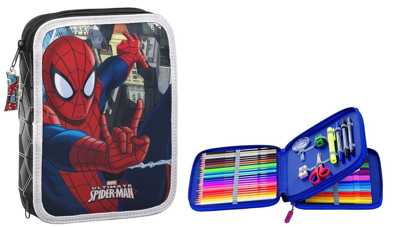 Spiderman - Plumier doble, 56 piezas, 20 x 25 cm (Safta 411512056)
