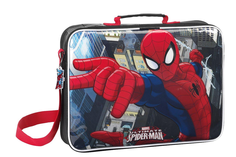 Spiderman - Cartera para extraescolares, 38 x 28 x 6 cm (Safta 611512385)