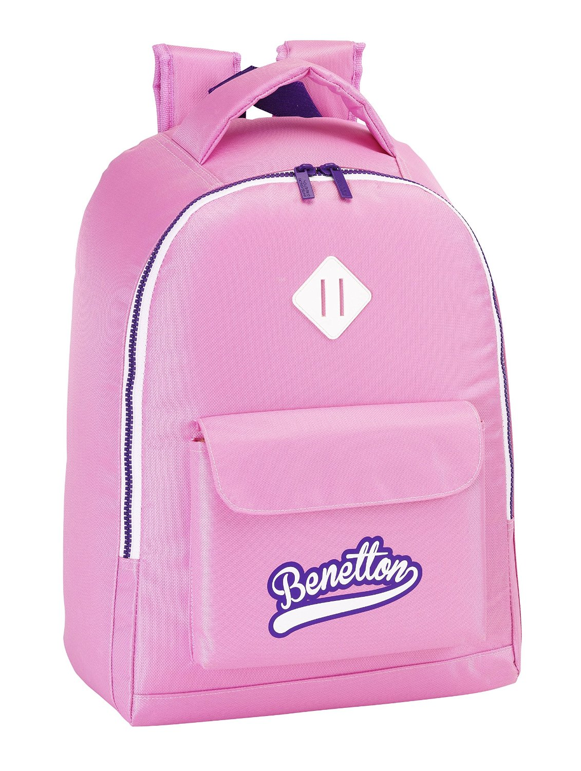 Benetton - Mochila adaptable, 32 x 43 cm, color rosa