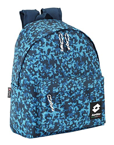 MOCHILA LOTTO COLOR CAMUFLAJE AZUL