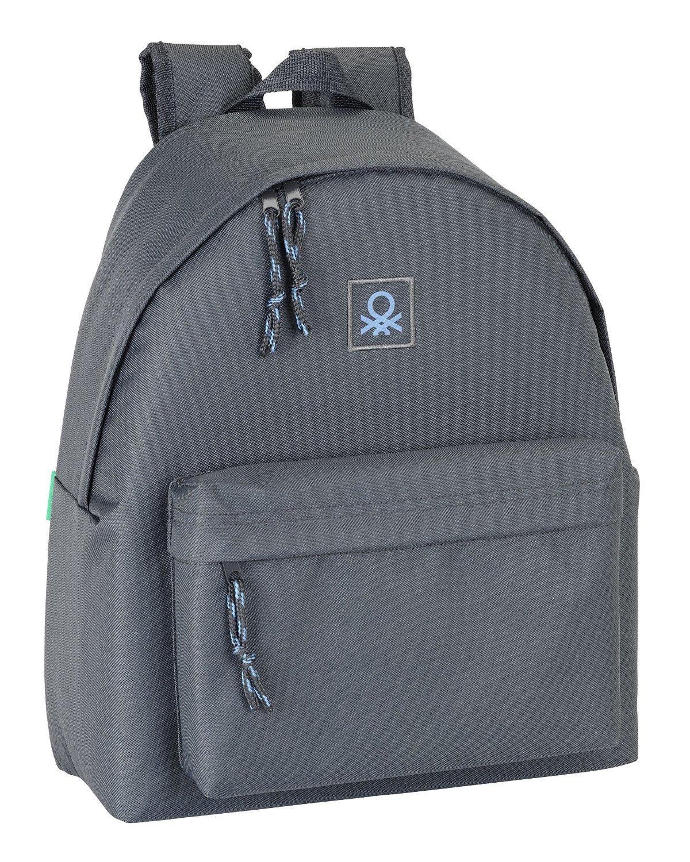 Benetton - Mochila, 32 x 40 cm, color gris