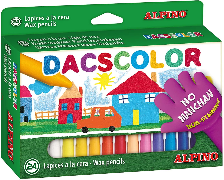 CAJA DE 24 CERAS DACSCOLOR DE ALPINO
