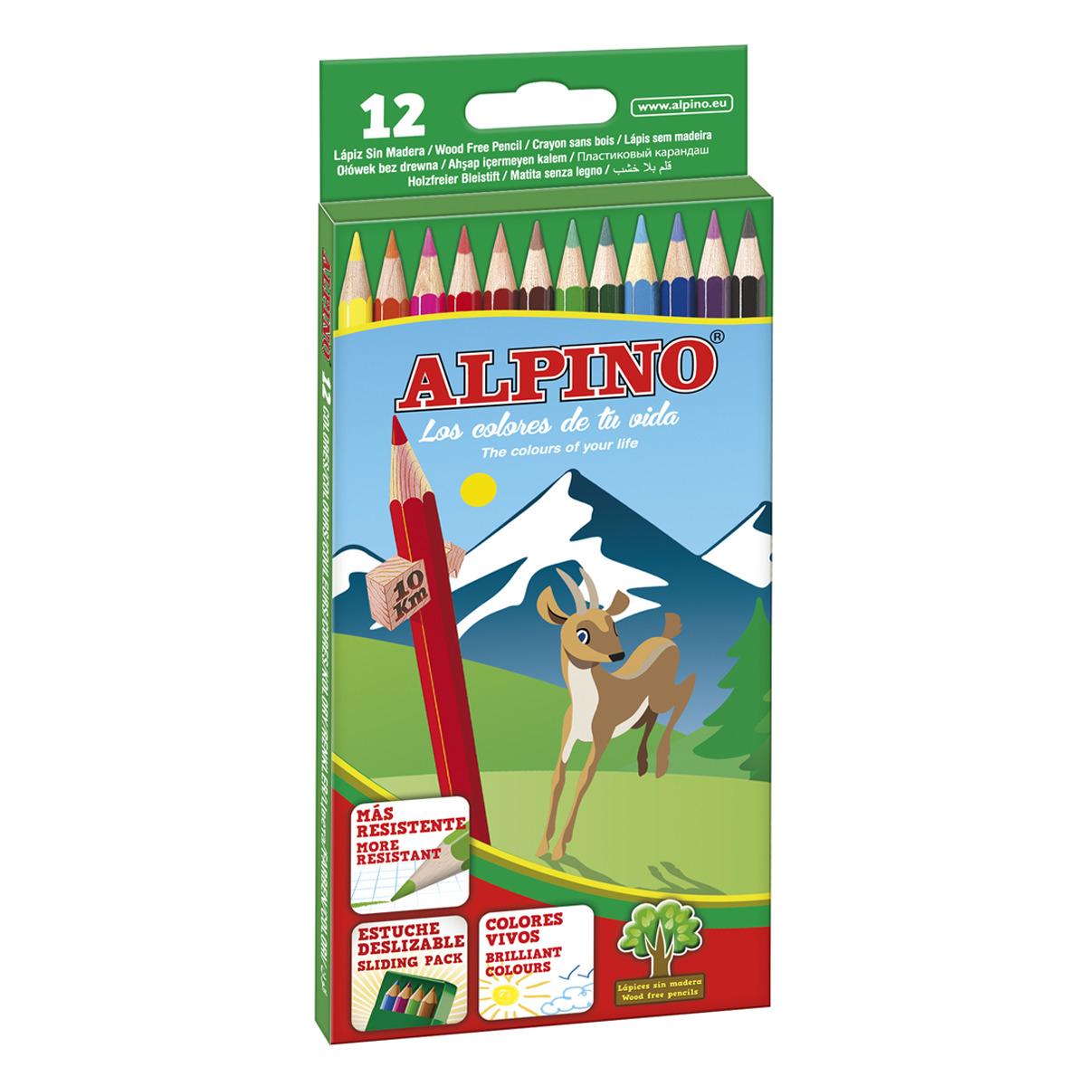 CAJA DE 12 LAPICES LARGOS WF ALPINO