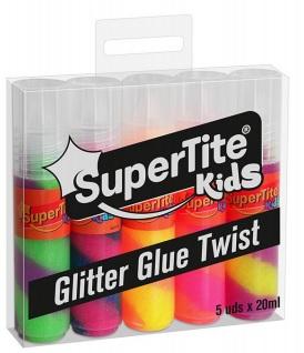 GLITTER GLUE TWIST 5udsx20ml