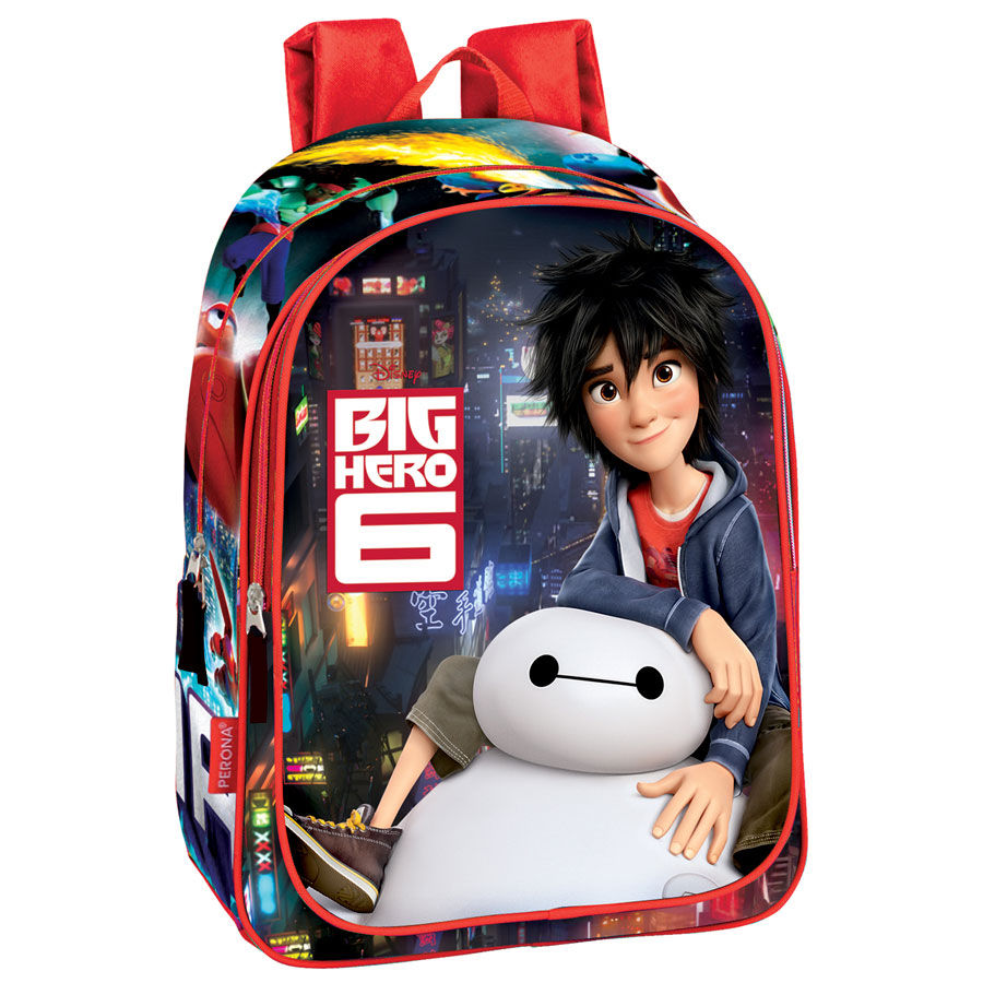 MOCHILA BIG HERO 6 DISNEY COLOR ROJO