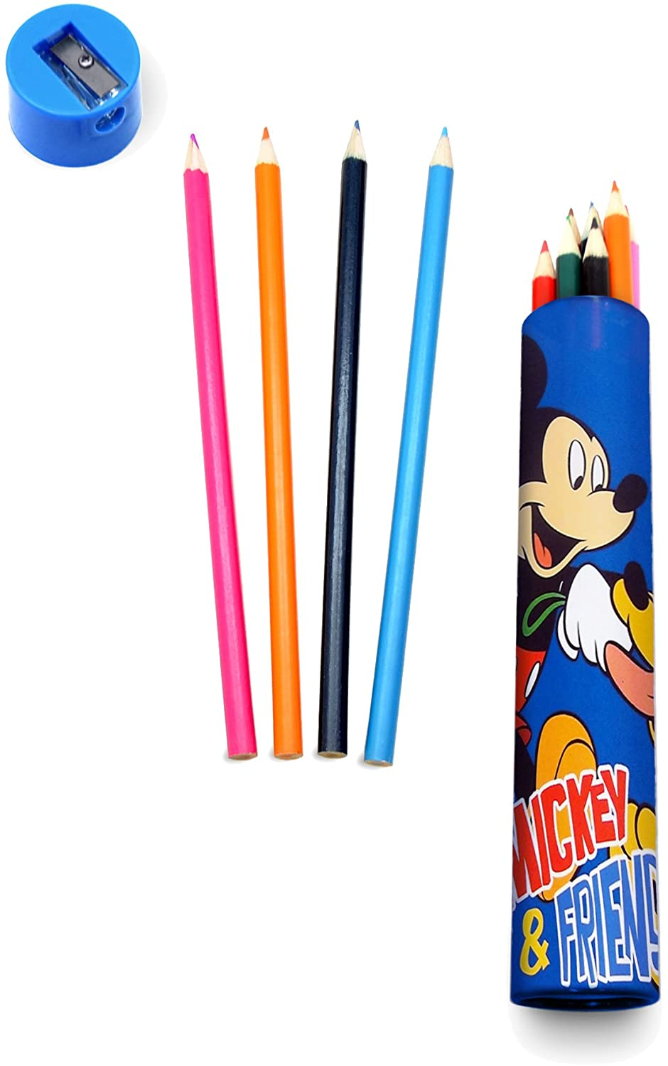 TUBO 12 LAPICES DE COLORES MICKEY